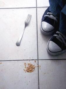brudna podloga w kuchni