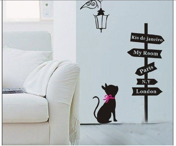 Free-Shipping-Mixed-Order-PVC-Wall-Sticker-Cat-wall-decal-wallpaper-room-sticker-house-sticker-Cartoon