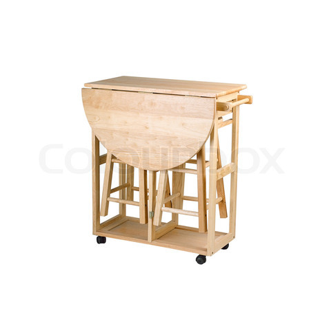 Stools-and-small-table-for-kitchen