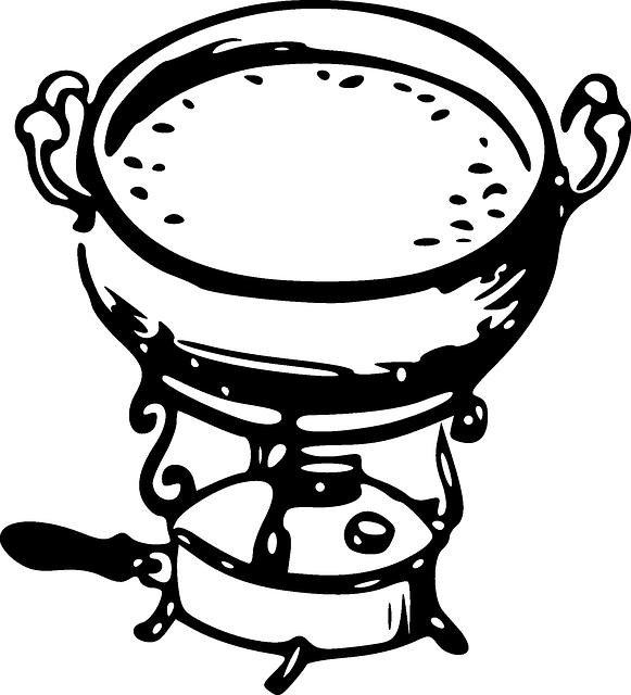 fondue serowe naczynie, fondue mięsne garnek