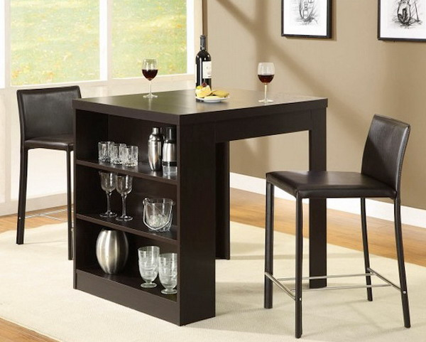 Modern Counter Height Kitchen Tables Wooden Floor Style
