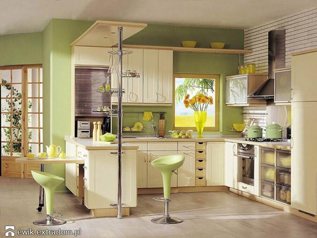 kuchnia - pastelowe barwy